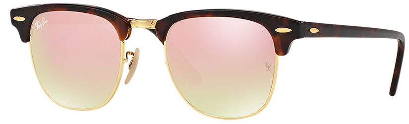 47fad99f3c4 RAY-BAN RB3016 CLUBMASTER SUNGLASSES – TORTOISE   GOLD   COPPER GRADIENT  FLASH roundmetalblue