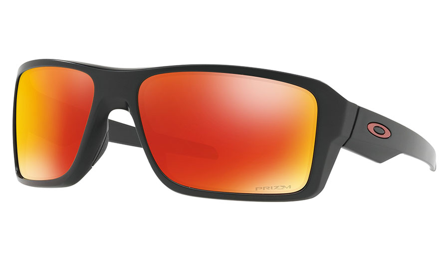 6872d0a87e8 A striking frame style with bold lines and eye catching colours makes the  Double Edge a real head turner. Matched with Oakley s legendary optics and  Prizm ...