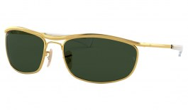 Ray-Ban RB3119M Olympian I Deluxe Sunglasses - Gold / Green
