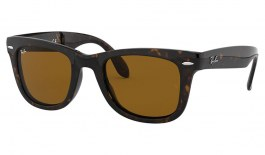 Ray-Ban RB4105 Folding Wayfarer Sunglasses - Tortoise / Brown