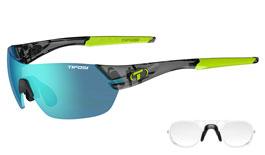Tifosi Slice Prescription Sunglasses - Crystal Smoke / Clarion Blue + AC Red + Clear