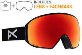 Anon M4 Toric MFI Ski Goggles - Black / Sonar Red + Sonar Infrared