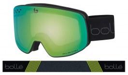 Bolle Nevada Ski Goggles - Matte Black & Green Diagonal / NXT Phantom Green Emerald Photochromic