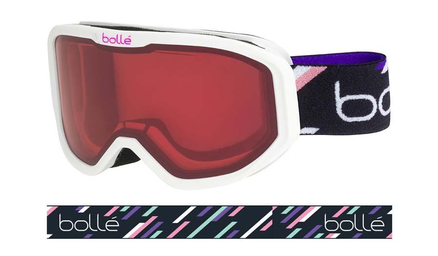 Bolle Inuk Ski Goggles - Matte White Purple Stripes / Vermillon