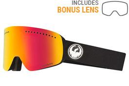 Dragon NFX Ski Goggles - Black / LumaLens Red Ion + LumaLens Rose