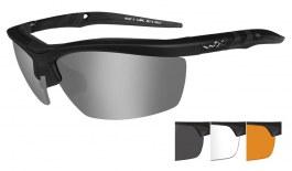 Wiley X Guard Sunglasses  - Matte Black / Smoke Grey + Clear + Light Rust