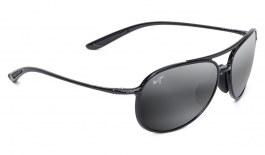 Maui Jim Alelele Bridge Sunglasses - Gloss Black / Neutral Grey Polarised