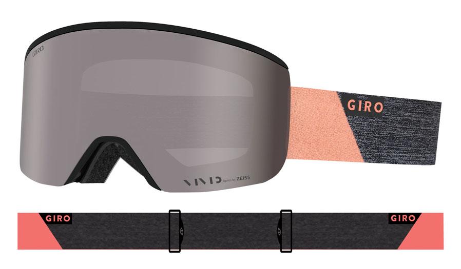 7517784554 Giro Ella Ski Goggles - Grey Peach Peak   Vivid Onyx + Vivid ...