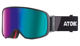 Atomic Revent L Ski Goggles - Black / Green Stereo HD