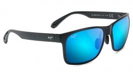 Maui Jim Red Sands Sunglasses - Matte Black / Blue Hawaii Polarised