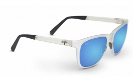 Maui Jim Tail Slide Sunglasses - Frosted Crystal / Blue Hawaii Polarised