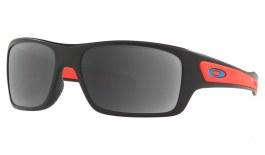 Oakley Turbine XS Prescription Sunglasses - Matte Black (Sky Blue Icon)