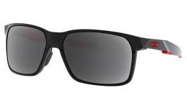 Oakley Portal X Prescription Sunglasses - Polished Black (Red Icon)