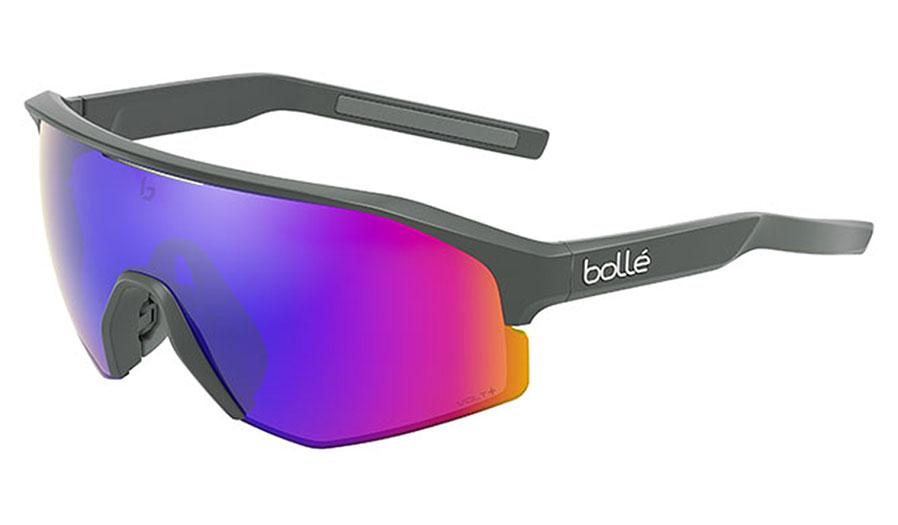Bolle Lightshifter XL Sunglasses - Matte Titanium / Volt+ Ultraviolet Polarised