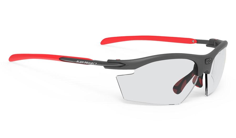 Rudy Project Rydon Prescription Sunglasses - Directly Glazed - Matte Graphite & Red