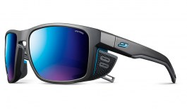 Julbo Shield Sunglasses - Matte Black & Blue / Spectron 3 CF Blue
