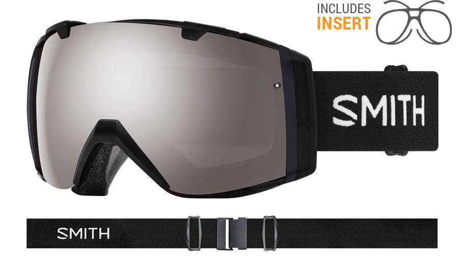 Smith Optics I/O Prescription Ski Goggles - Black / ChromaPop Sun Platinum Mirror + ChromaPop Storm Rose Flash