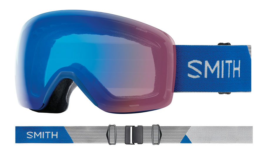 Smith Skyline Ski Goggles - Imperial Blue / ChromaPop Storm Rose Flash