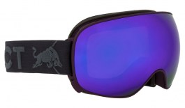 Red Bull Magnetron Ski Goggles - Matte Burgundy & Dark Anthracite / Purple Snow + Cloudy Snow