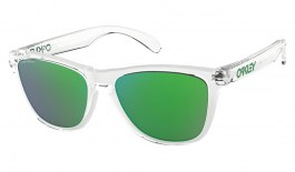 Oakley Frogskins Sunglasses - Crystal Clear / Prizm Jade