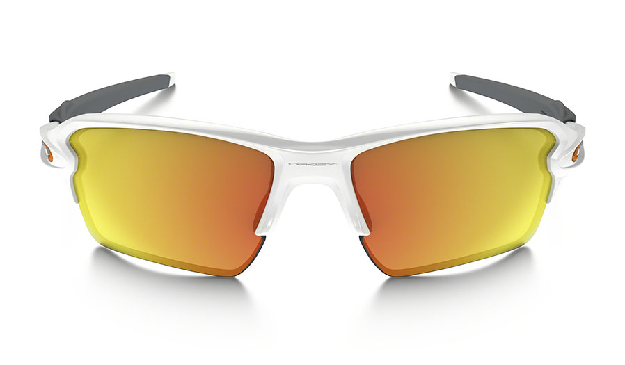 7108daecc57 Oakley Flak 2.0 XL Sunglasses - Polished White   Fire Iridium - RxSport