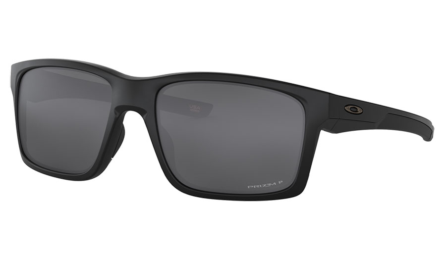 Oakley Mainlink XL Sunglasses - Matte Black / Prizm Black Polarised