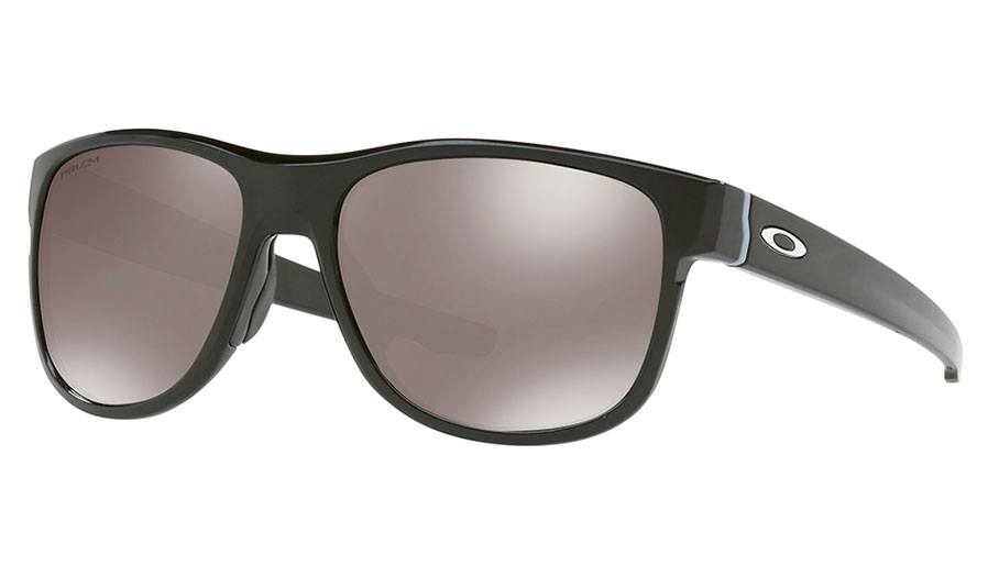Oakley Crossrange R Sunglasses - Polished Black / Prizm Black Polarised