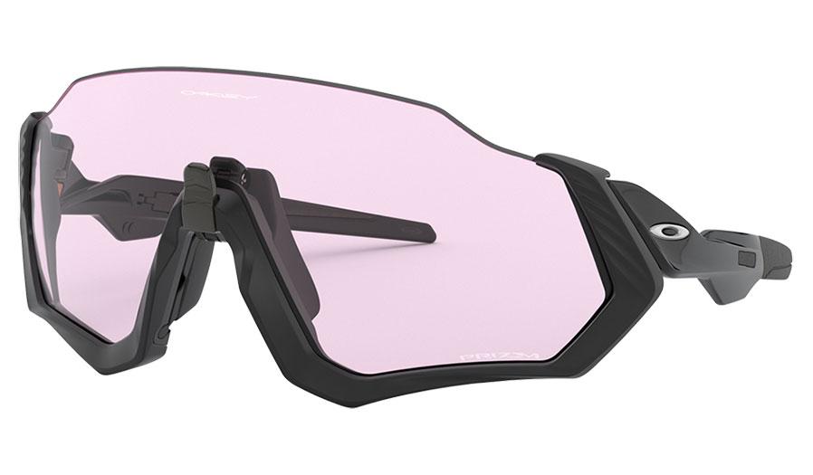 Oakley Flight Jacket Sunglasses - Polished Black / Prizm Low Light
