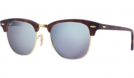 Ray-Ban RB3016 Clubmaster Sunglasses - Tortoise & Gold / Silver Flash