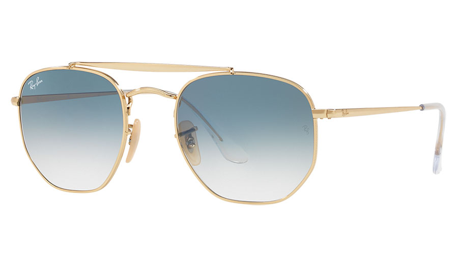 b9312761d8db7 Ray-Ban RB3648 Marshal Sunglasses - Gold   Light Blue Gradient - RxSport