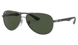 Ray-Ban RB8313 Sunglasses - Gunmetal / Green Polarised
