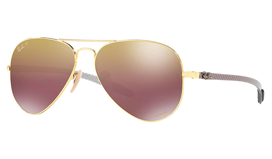518e5927346 Ray-Ban RB8317CH Chromance Sunglasses - Gold   Purple Mirror Chromance -  RxSport