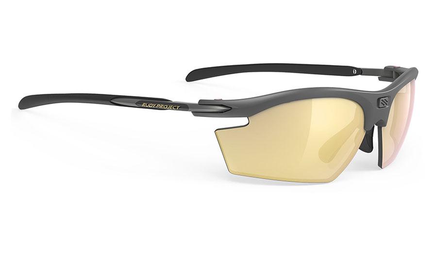 Rudy Project Rydon Prescription Sunglasses - Clip-On Insert - Matte Charcoal / Multilaser Gold