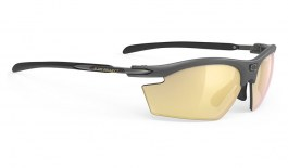 Rudy Project Rydon Prescription Sunglasses - Clip-On Insert - Matte Charcoal / Multilaser Gold