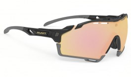 Rudy Project Cutline Sunglasses - Gloss Black / Multilaser Gold
