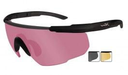 Wiley X Saber Advanced Prescription Sunglasses - Clip-On Insert - Matte Black / Vermillion + Smoke Grey +  Light Rust