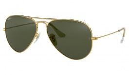 Ray-Ban RB3025 Aviator Sunglasses - Gold / Green