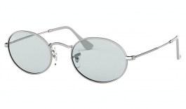 Ray-Ban RB3547 Oval Sunglasses - Silver / Evolve Light Blue Photochromic