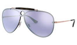 Ray-Ban RB3581N Blaze Shooter Sunglasses - Bronze Copper / Dark Violet Silver Mirror