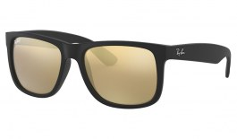 Ray-Ban RB4165 Justin Sunglasses - Black / Gold Mirror