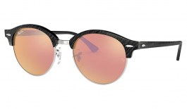 Ray-Ban RB4246 Clubround Sunglasses - Black & Silver / Copper Flash