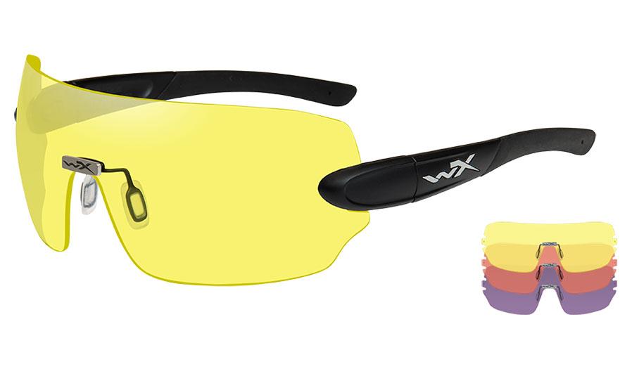 Wiley X Detection Sunglasses - Matte Black / Yellow + Orange + Purple