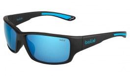 Bolle Kayman Sunglasses - Matte Black & Blue / Offshore Blue HD Polarised