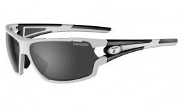 Tifosi Amok Sunglasses - White & Black / Smoke + AC Red + Clear