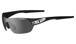 Tifosi Slice Sunglasses - Black & White / Smoke + AC Red + Clear