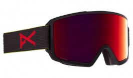 Anon M3 Ski Goggles - Black Pop / Perceive Sunny Red + Perceive Cloudy Burst