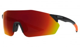 Smith Reverb Sunglasses - Matte Black Cinder / ChromaPop Red Mirror + ChromaPop Contrast Rose