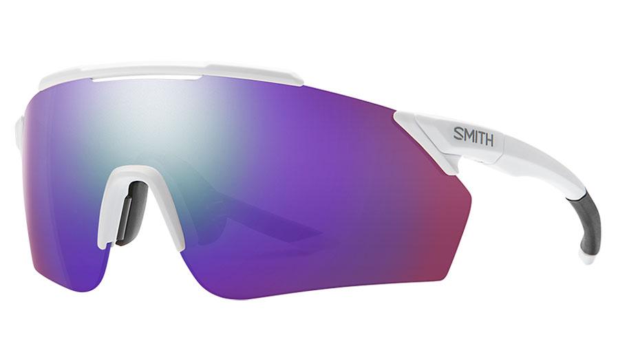 Smith Ruckus Sunglasses - Matte White / ChromaPop Violet Mirror + ChromaPop Contrast Rose