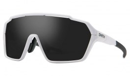 Smith Shift MAG Sunglasses - Matte White / ChromaPop Black + Clear