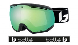 Bolle Northstar Prescription Ski Goggles - Matte Black Corp / Phantom Green Emerald Photochromic